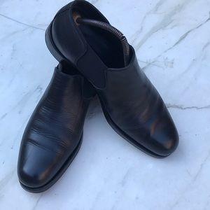 Giorgio Armani leather Chelsea boots, black, 44